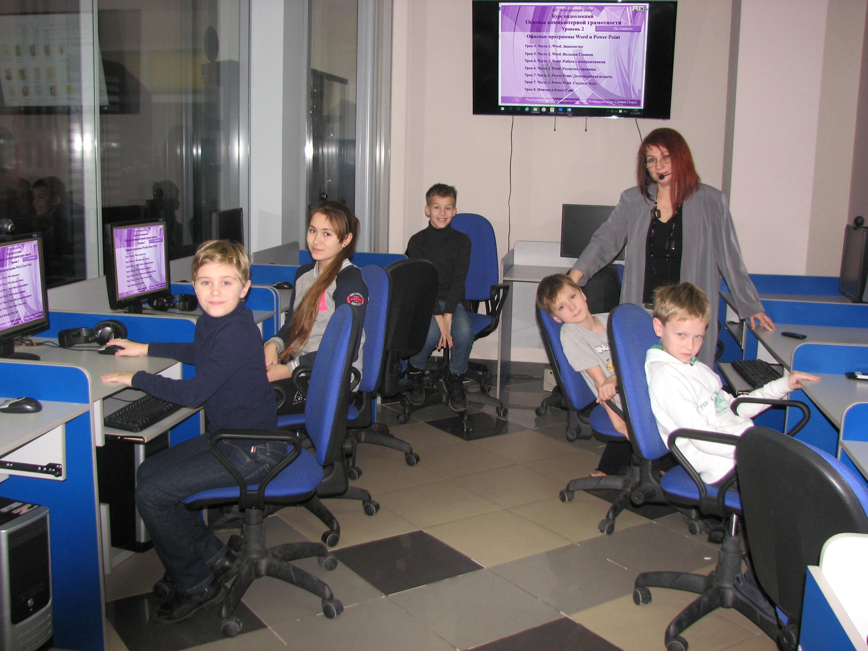 Юные гении на основном этапе освоения компьютера